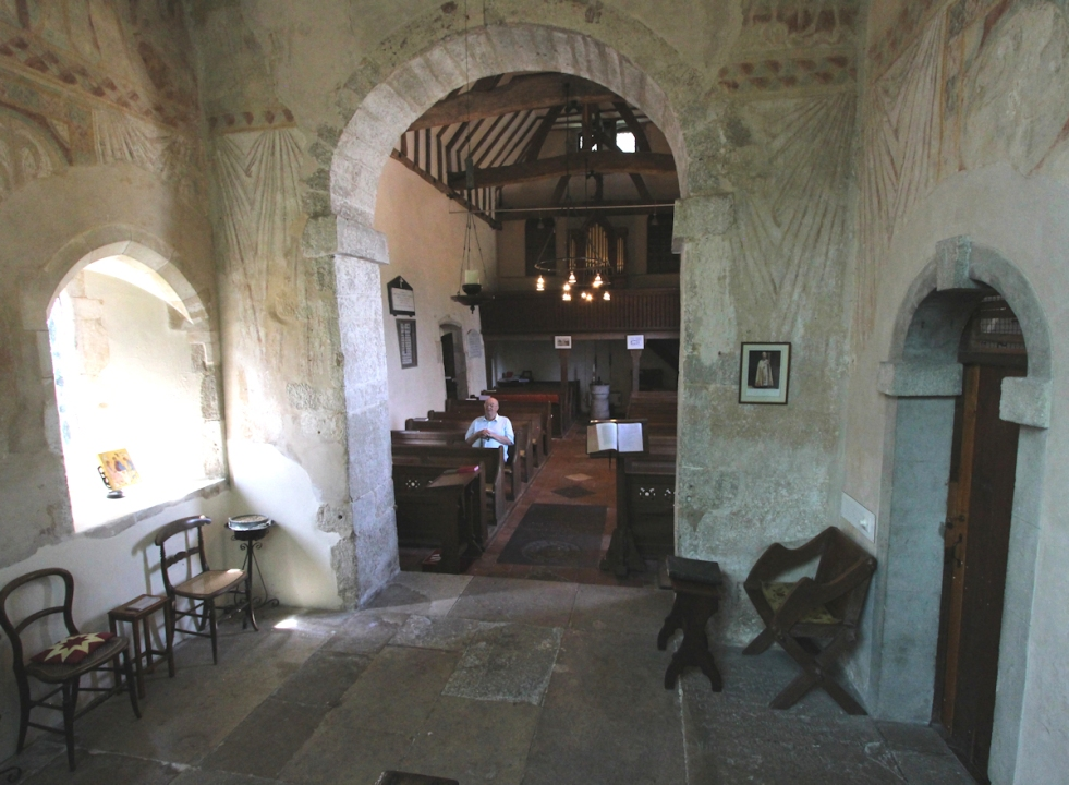 from the chancel