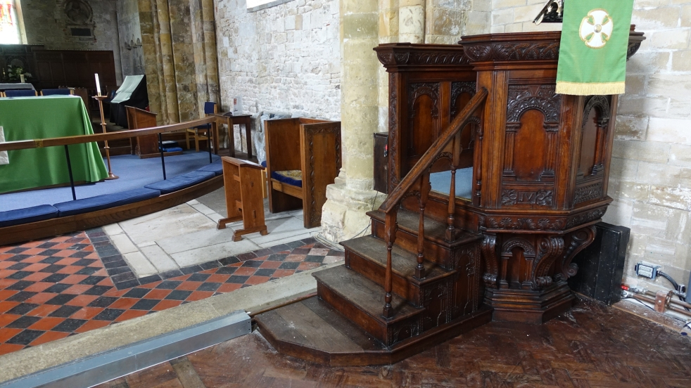 pulpit and alter area