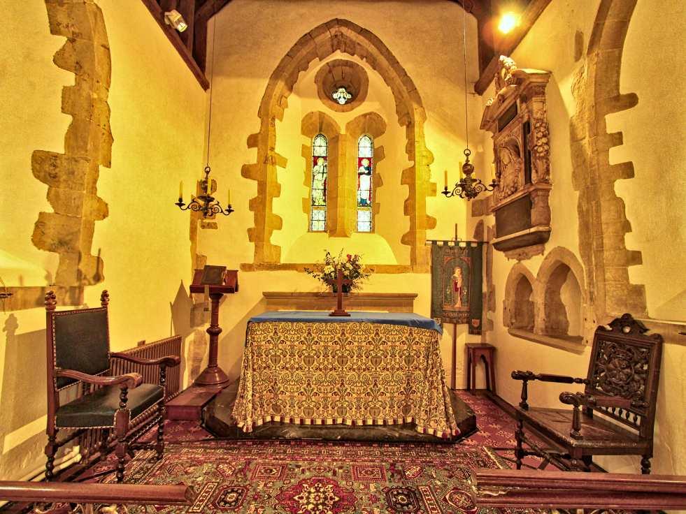 Upton Grey church chancel