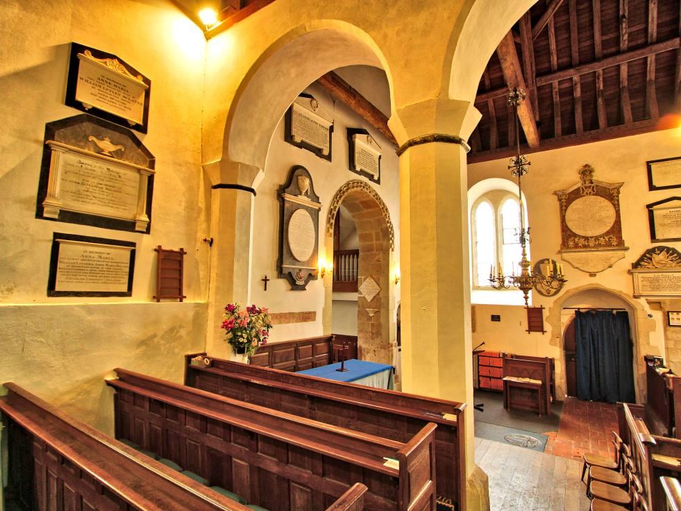 Upton Grey Church Monuments