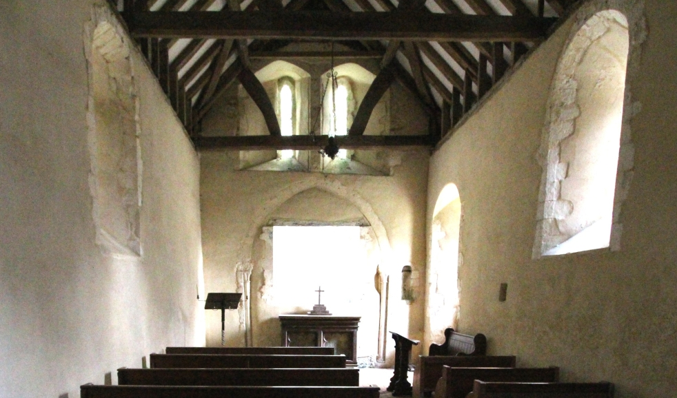 Little Somborne Church nave